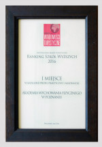 "Poznań University School of Physical Education is the leader of the ranking of ""Wiadomości Turystyczne"" (""Tourist news"")"